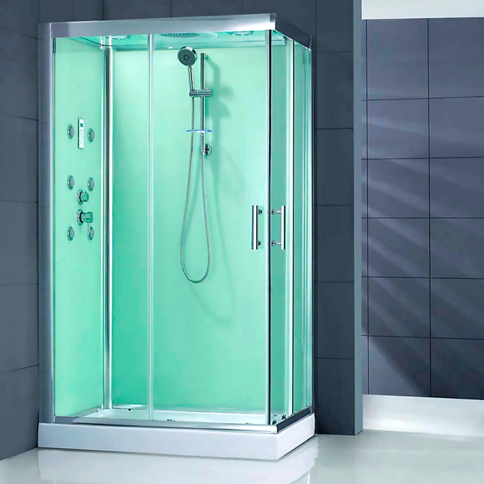 Sensi dacqua cabina easy inst rectangular luz r izq ba o for Griferia ducha homecenter