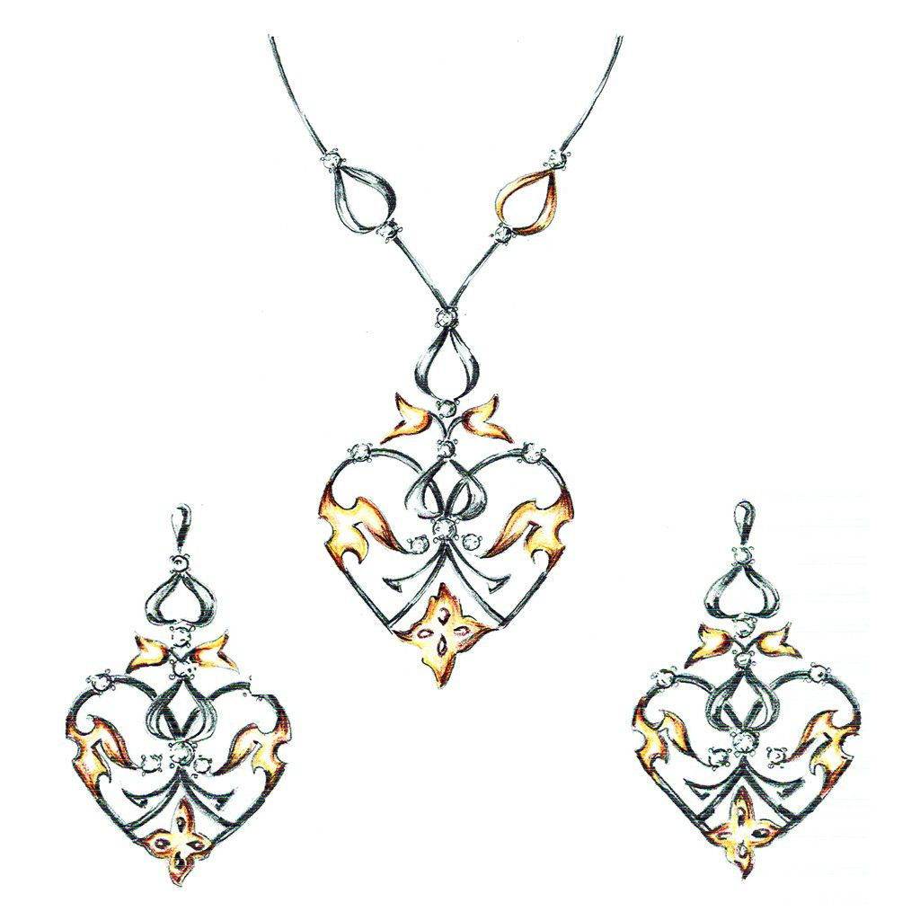 The magnifico pendant set pinterest pendant set diamond pendant