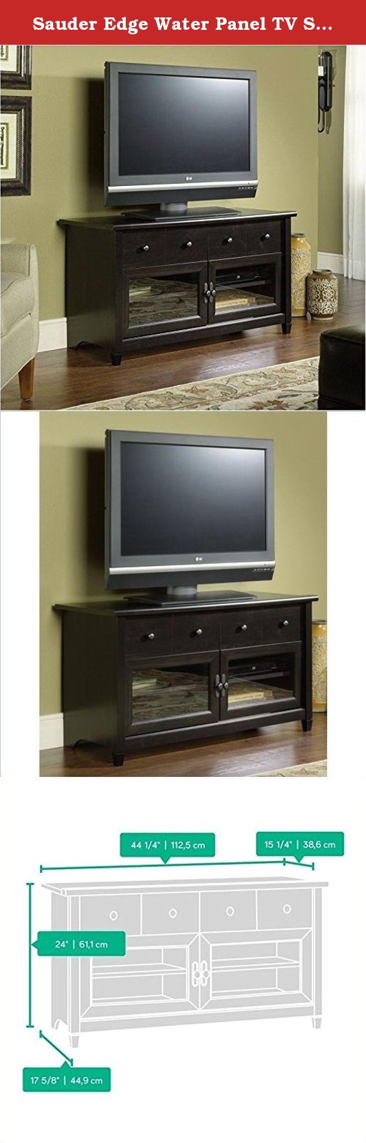 Sauder Edge Water Panel Tv Stand Estate Black Finish In Keeping
