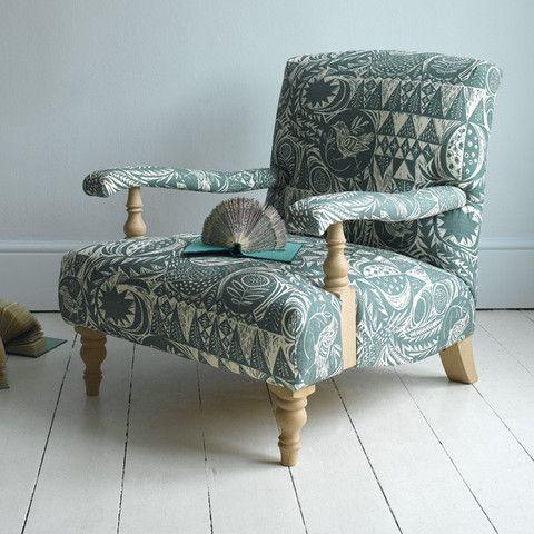 kilkenny chair in mark hearlds bird garden fabric from sofacom