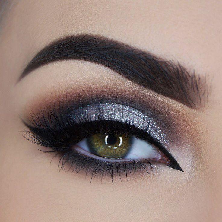 Silver Black And Brown Smokey Eye