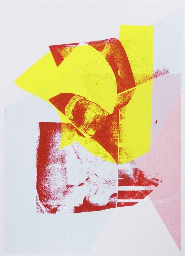 Clara Bausch, Lichter, 2017, Siebdruck auf Papier, 36 x 26 cm, Auflage 10