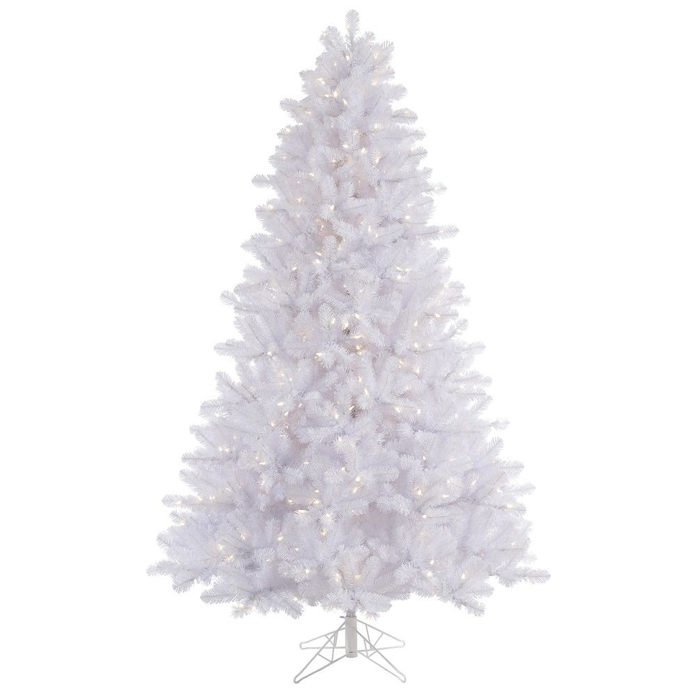 crystal white 45 pine artificial christmas tree with 300 led white lights with stand
