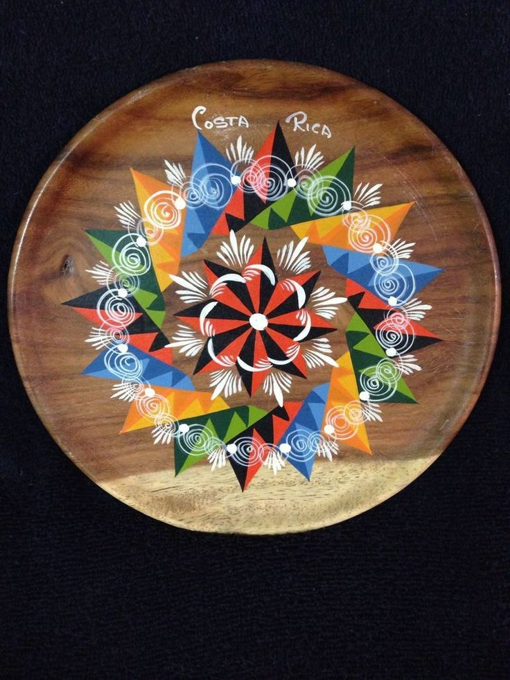 Vintage Hand Painted Costa Rica Wooden Decorative Plate #art #artist #costaricaart : hand painted decorative plates - pezcame.com