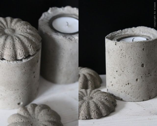 elsass: DIY: Cement candle holders