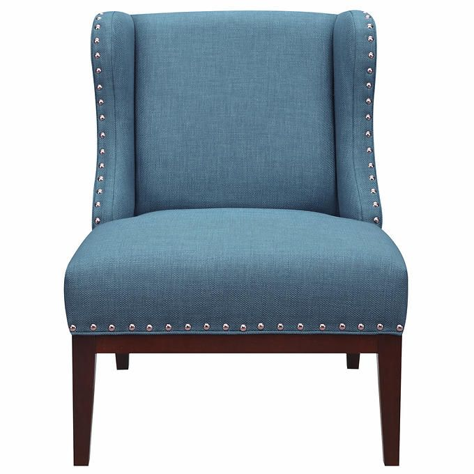 Kitts Fabric Wingback Accent Chair Costco Wingback