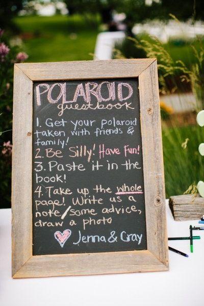 Polaroid Guestbook Sign Or Digital Camera Guest Book