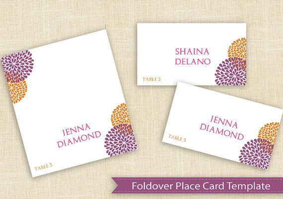 Place cards | Place card template, Place cards, Card template