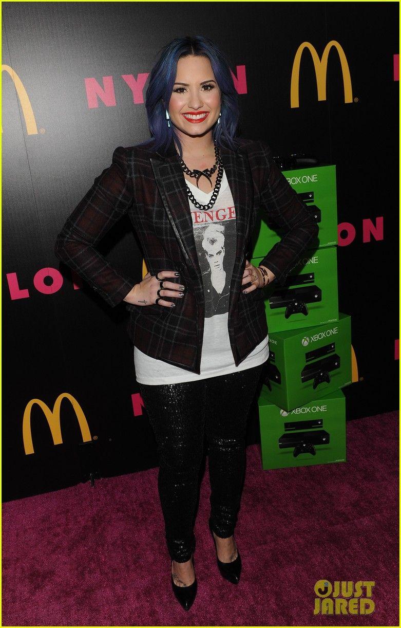 Demi Lovato & Mustachioed Joe Jonas: Nylon Magazine Party! | demi lovato mustachioed joe jonas nylon magazine party 09 - Photo