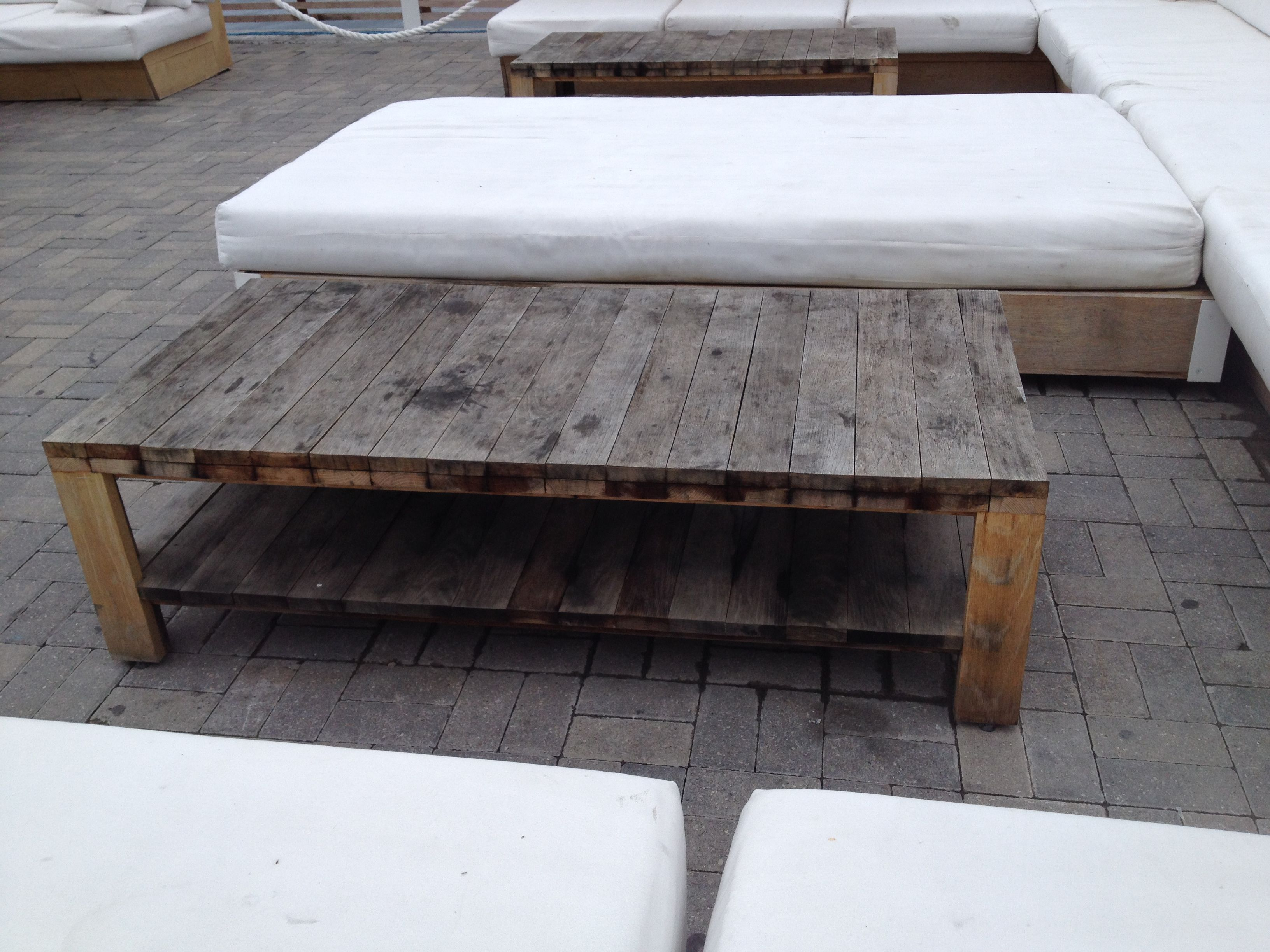 pallet wood outdoor coffee table | Tables, Benches ...