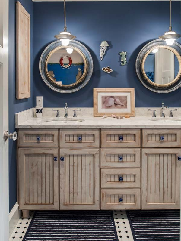 excellent nautical bathroom accessories | HOME DECOR – COASTAL STYLE – nautical bathroom drawer ...