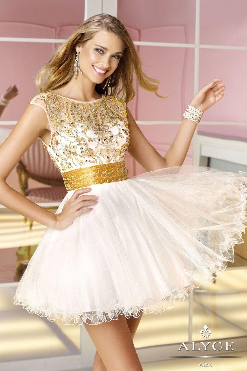 Alyce paris decadent fairytale gilded sweet dress white
