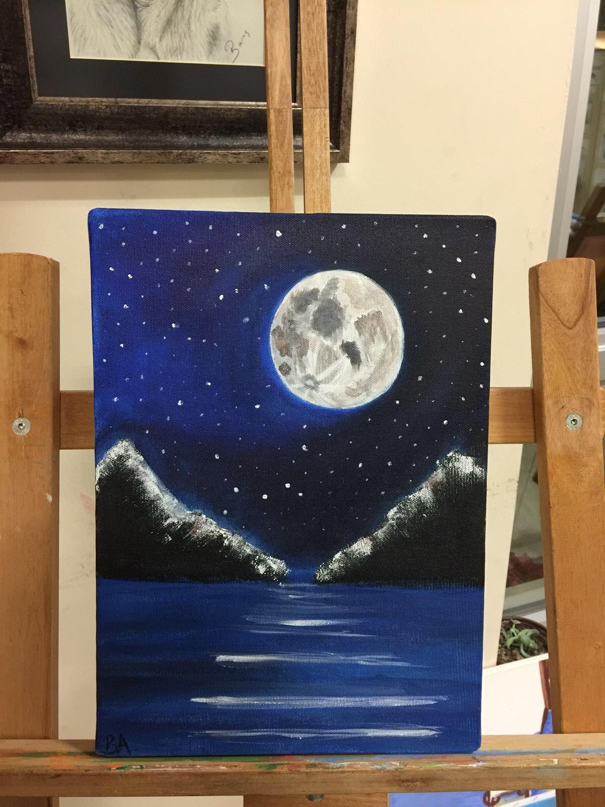 Ilk Akrilik Boya Calismam Sanatsal Resimler Tuval Sanati Tuval