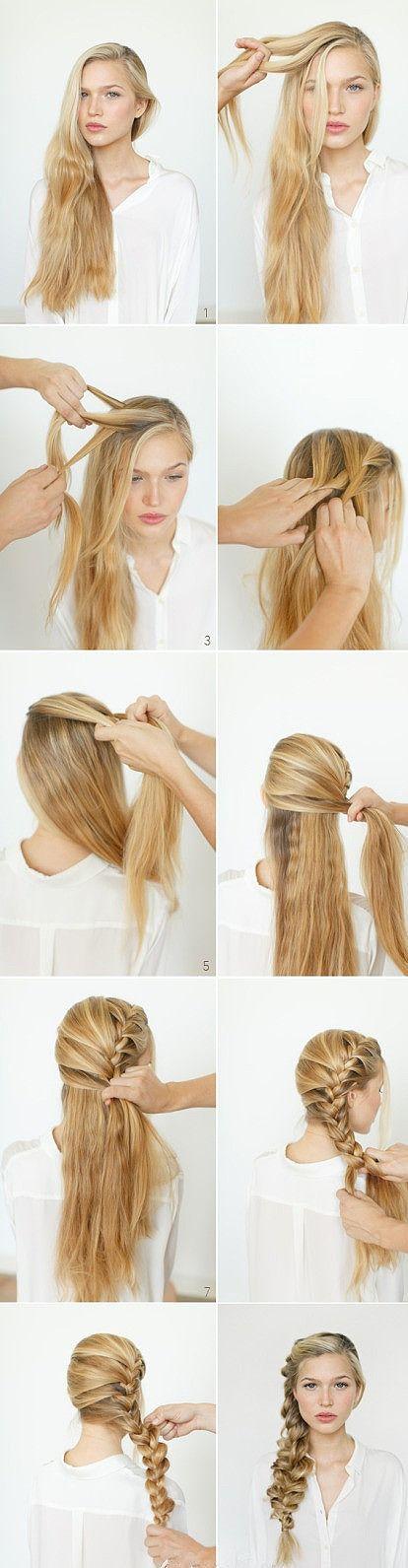 Seitlicher Französischer Zopf Frisuren In 2019 Pinterest Haar