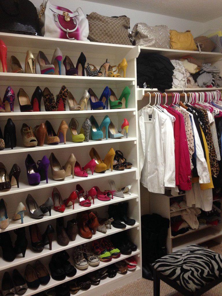 Diy custom builtin shoe shelf a minor closet remodel