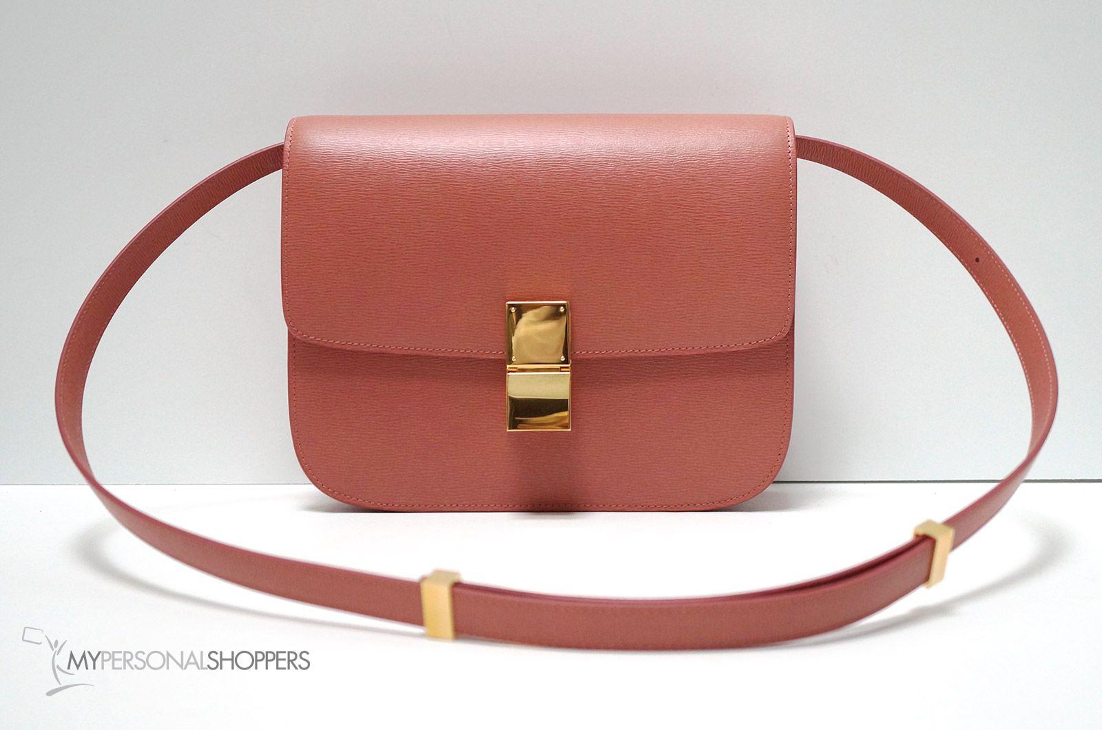 Celine Classic Terracotta Medium Textured Leather Box Bag, New