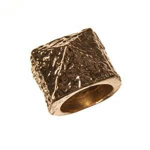 Home » Rings » Bold Gold Pyramid Ring More lovestylize.com
