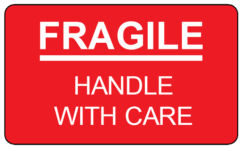photograph relating to Fragile Printable named Delicate deal with with treatment label template. Print Those people out and
