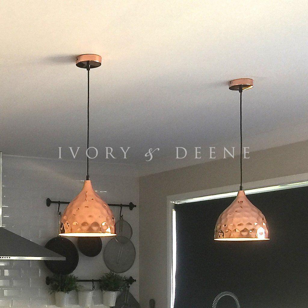 Pendant light copper hammered nora pendant lighting swedish kitchen arubaitofo Gallery