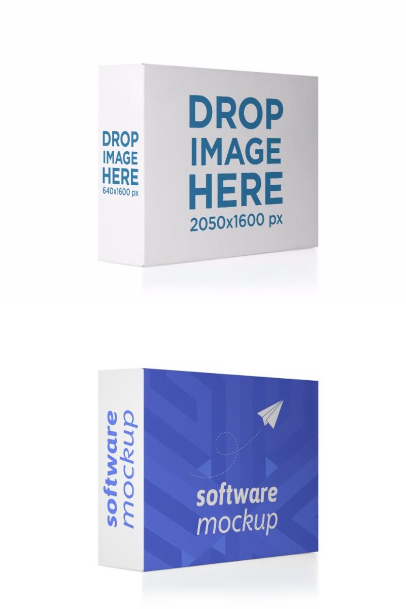 Download Placeit Horizontal Software Box Lying Over A Transparent Backdrop Mockup Mockup Horizontal Software