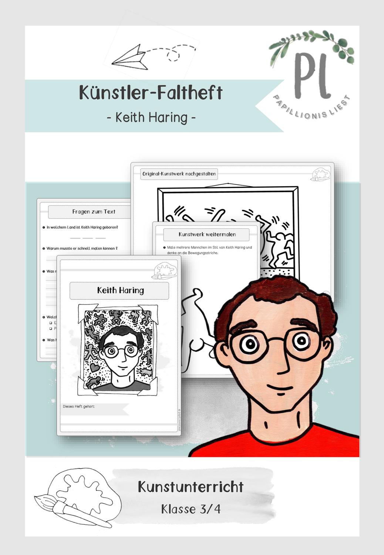 Kunstler Faltheft Keith Haring Unterrichtsmaterial Im Fach Kunst Keith Haring Kunstler Grundschule Kunst Grundschule