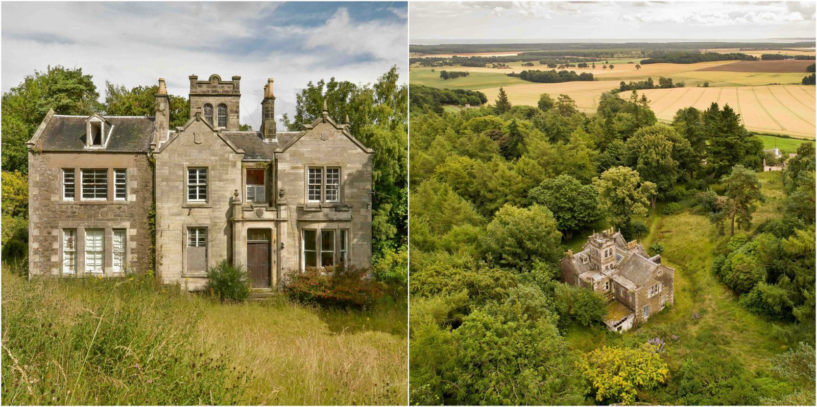 This Entire Scottish Country Manor Estate Is On Sale For Just 200 000 Abandoned Mansion For Sale Scottish Castles For Sale Old Mansions