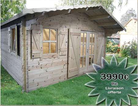 Lu0027européenne de chalet Chalet en bois Eco Jardin Pinterest