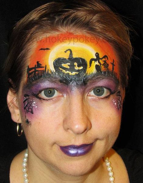 cute pumpkin face paint - Halloween Face Paint Ideas For Children
