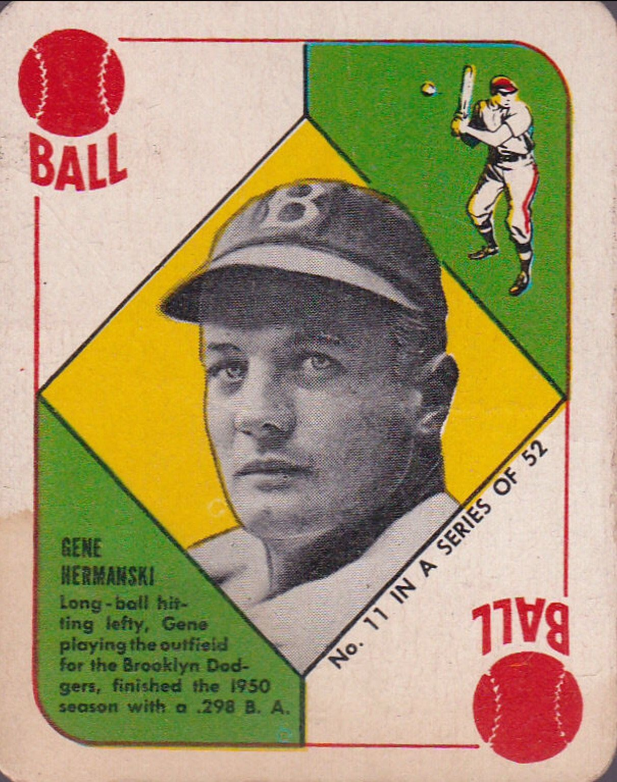 1951 Topps Red Backs This Was Actually Topps First Try At Baseball