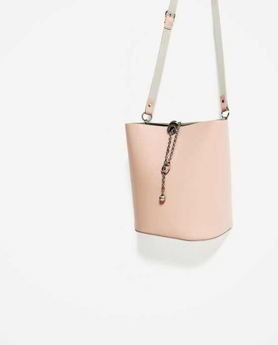 21f37c8cc3 Image 3 of JOIN LIFE BUCKET BAG WITH CHAIN DETAIL from Zara