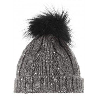 79b09b0c Twinkle Grey Bobble Hat | 1897 | Black bobble hats, Hats, Bobble hats