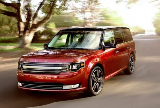 2013 Ford Flex In Ruby Red With A Black Roof Surprisingly Awesome