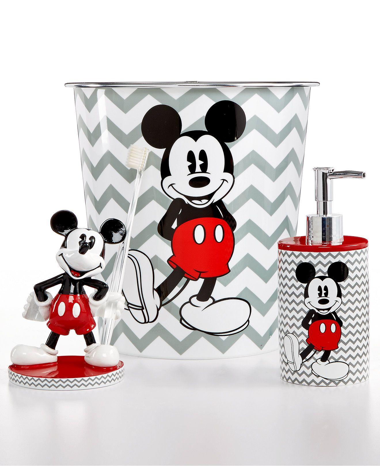 New Mickey Chevron Bath Accessories