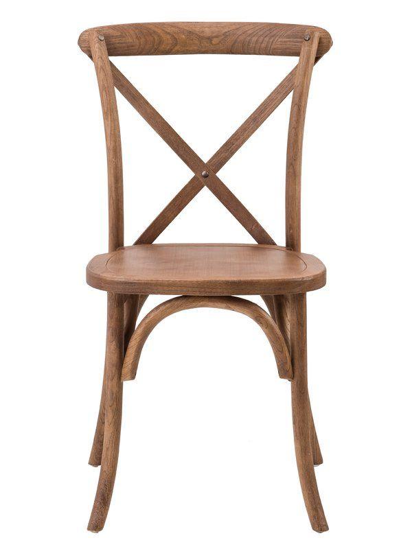 Laurel Foundry Modern Farmhouse Su Solid Wood Dining Chair Reviews Wayfair