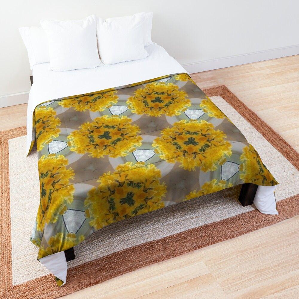 Gelbe Narzissen Blumen Abstrakt Tagesdecke Von Rhnaturestyles In