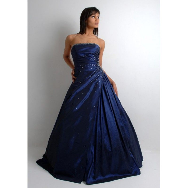 colored Wedding Dresses | Colored Beaded Navy Dark Royal Blue ...