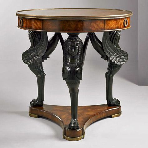 Outstanding Art Deco Table With Sphinx Legs 475X475 Egyptian Furniture Andrewgaddart Wooden Chair Designs For Living Room Andrewgaddartcom