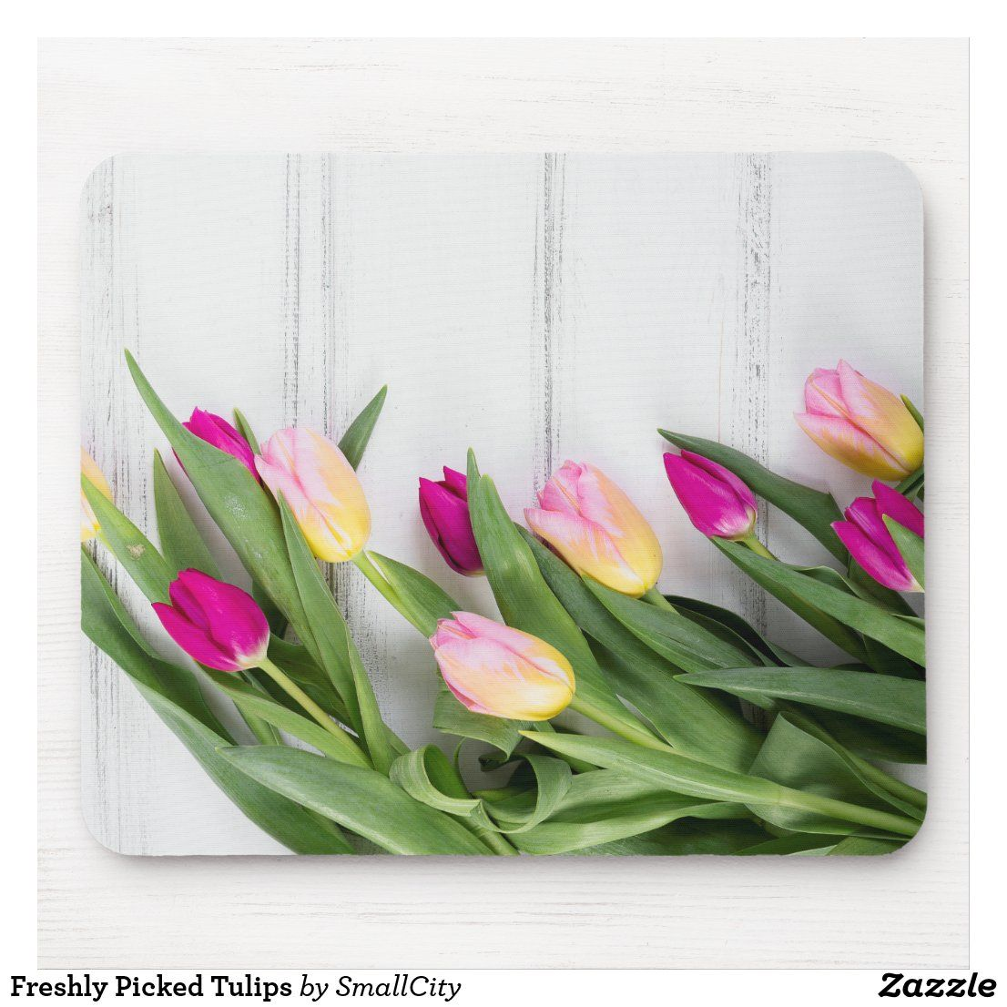 Flutter With Tulips Mousepad Mouse Pad Mat