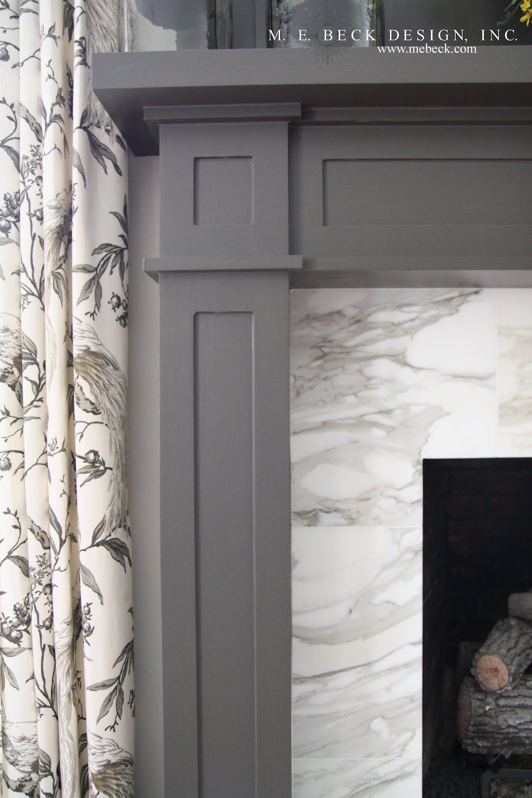 Gray painted fireplace surround Fireplaces Pinterest Paint