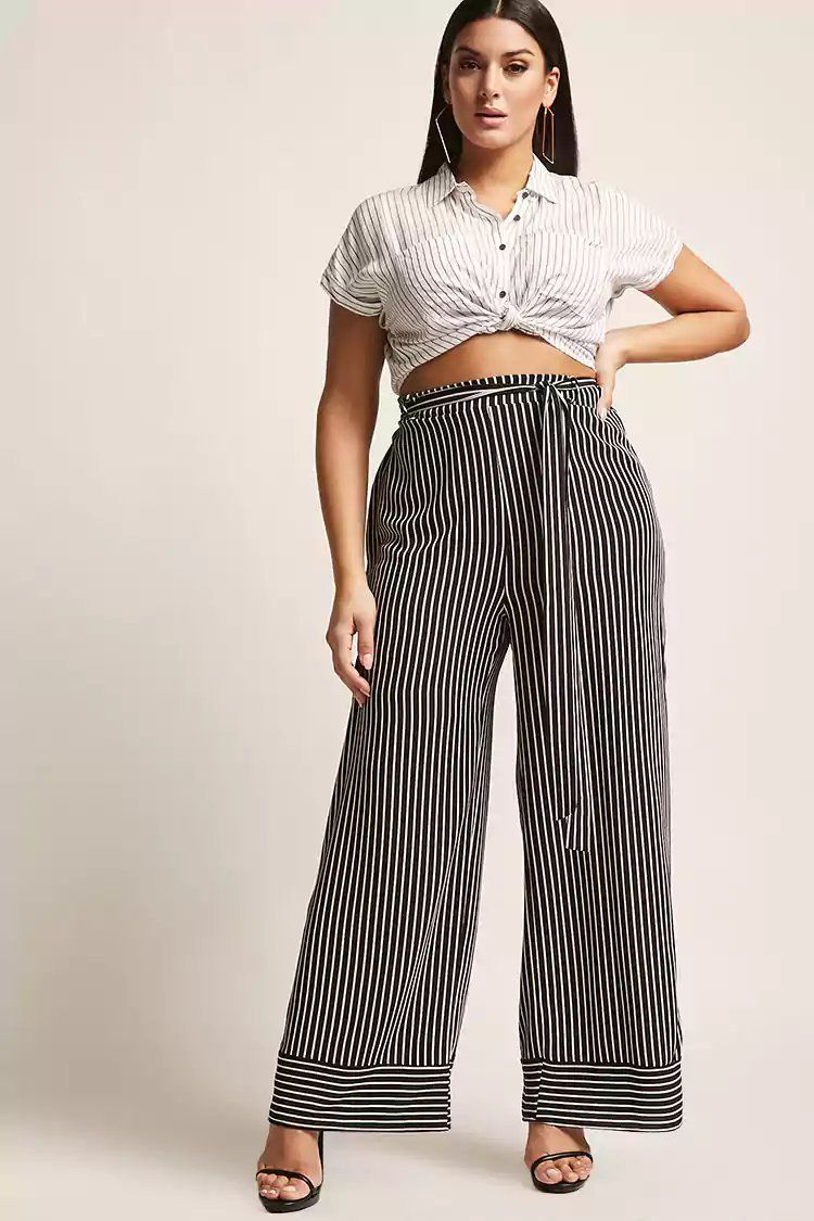 e6b655f64ae9 Product Name:Plus Size Textured Stripe Palazzo Pants,  Category:CLEARANCE_ZERO, Price:28