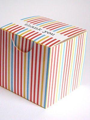 Free Print Box Boxes Baskets Geschenke Papier