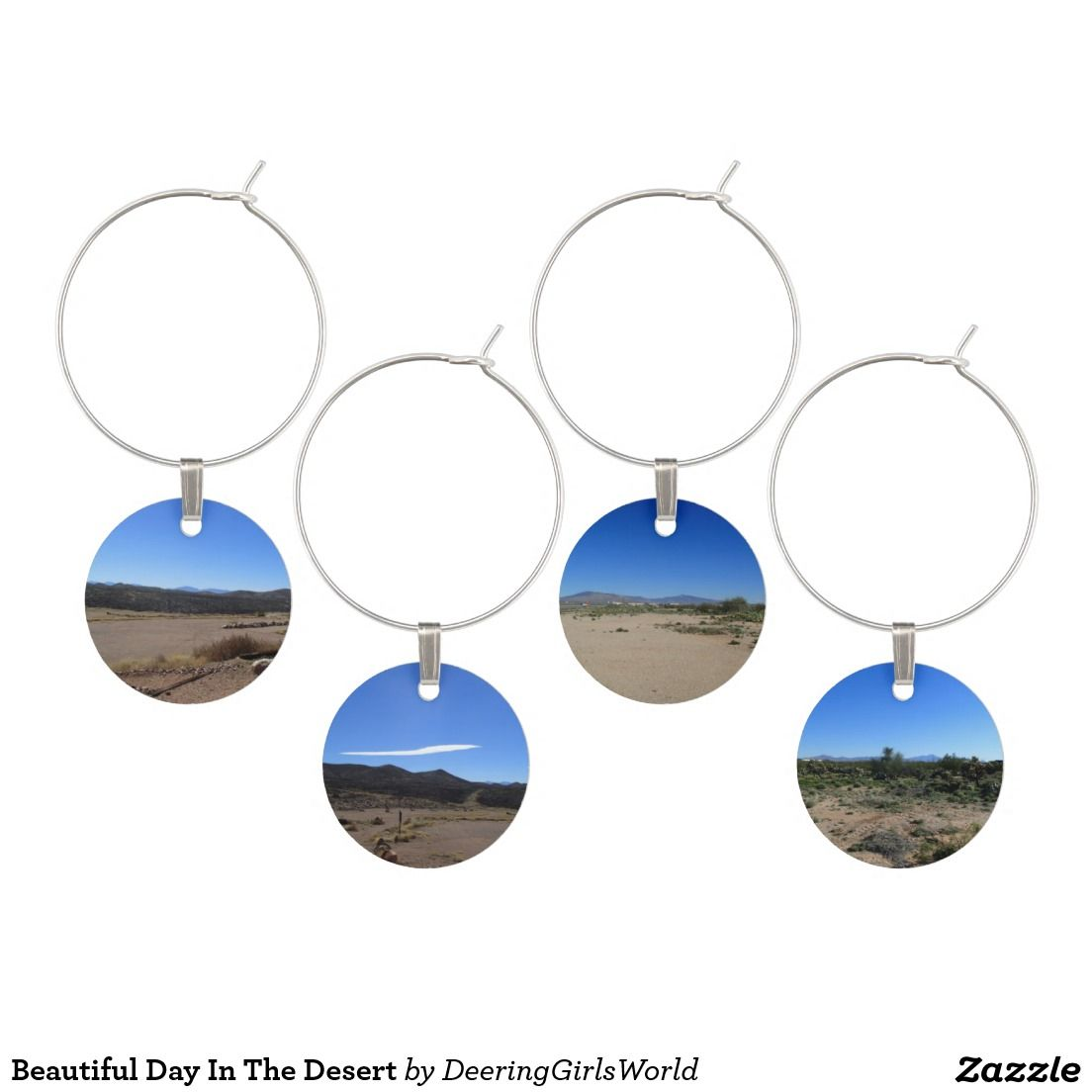 Beautiful Day In The Desert Wine Glass Charm