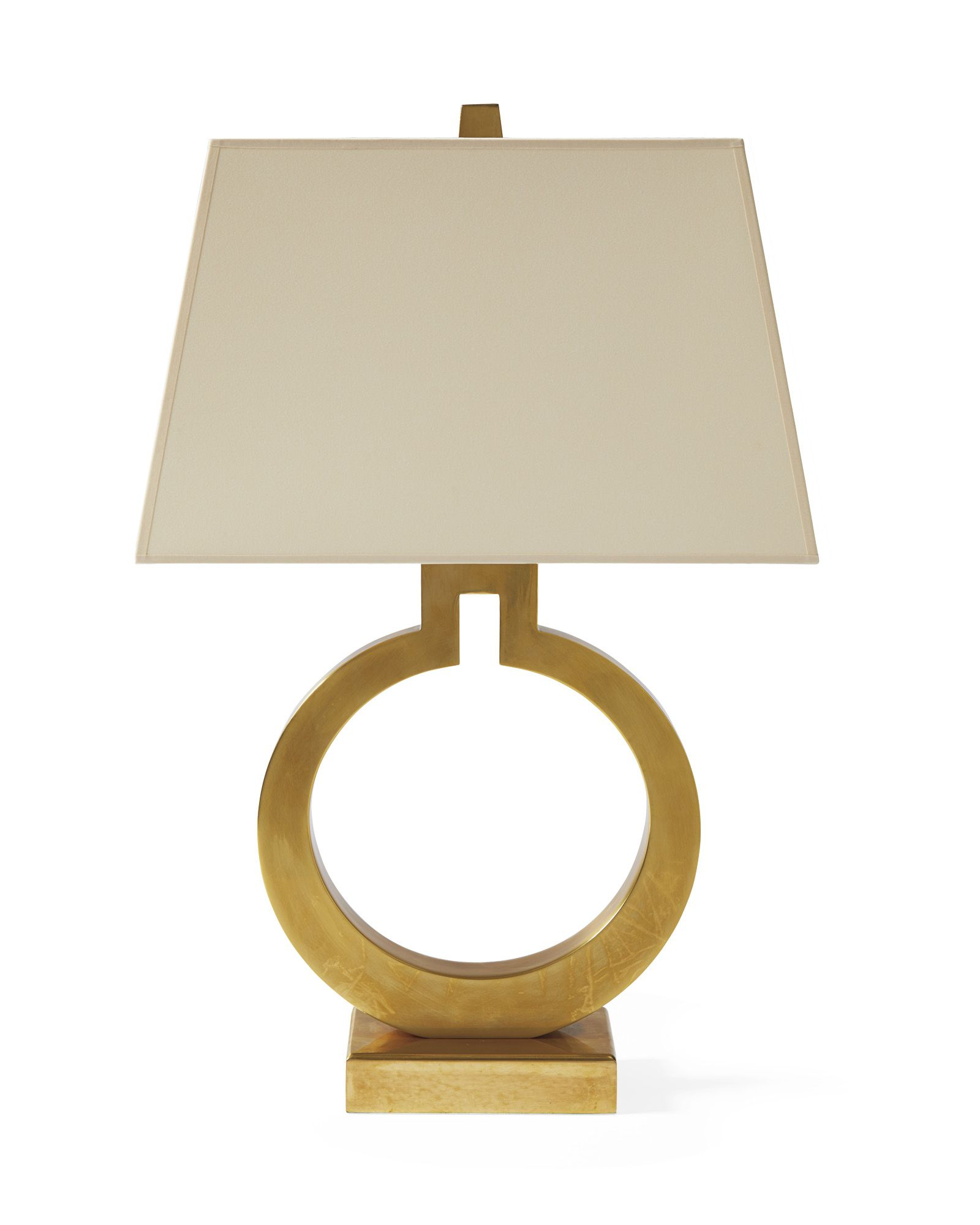 Brass Ring Table Lamp Home Decor Furniture Serena Lily