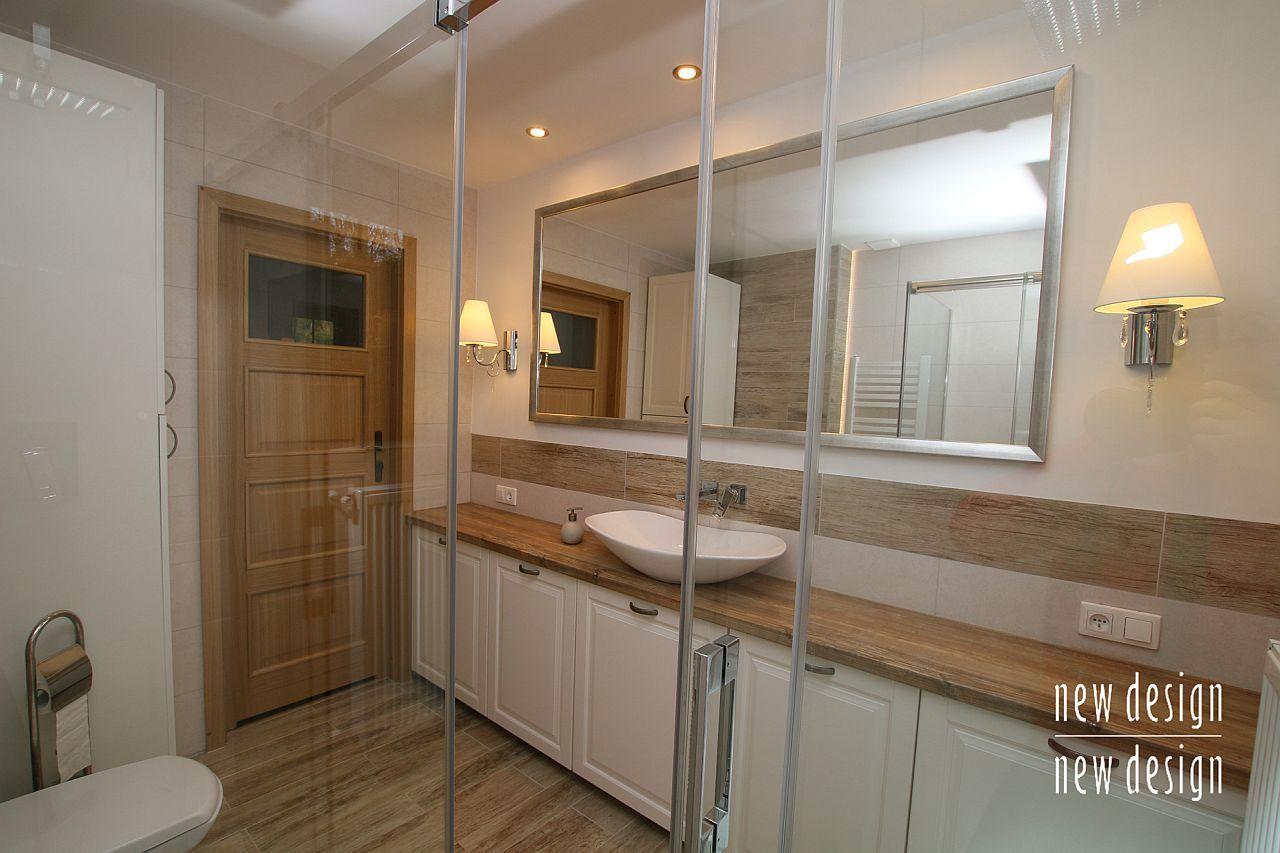Przytulna łazienka Styl Rustykalny Projekty łazienki