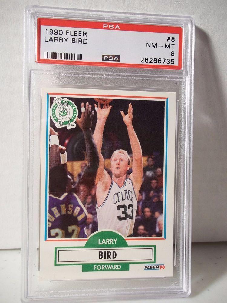 1990 fleer larry bird psa nmmt 8 basketball card 8 nba