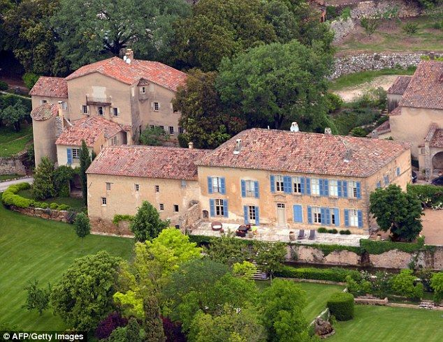 Au revoir:According to UsWeekly.com, the stars have agreed to part with their country estate and vineyard in the South of France as they pursue a divorce