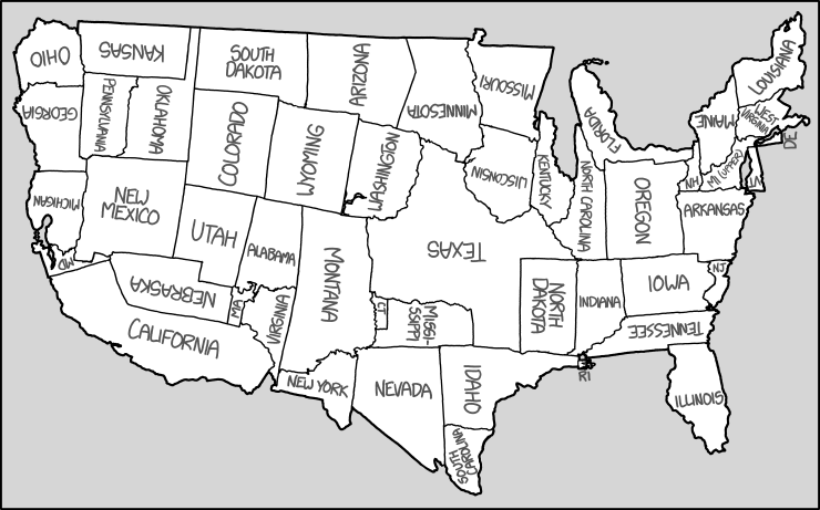 Rearranging The Shapes Of The States To Create A New Map Of The - Map of united states