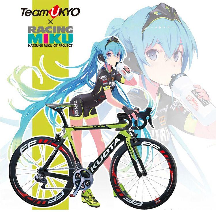 Racing Girl Hatsune Miku Motorcycle Figma 10CM PVC Anime