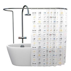 Shower Curtain Emoticons: Amazon.co.uk: Kitchen & Home