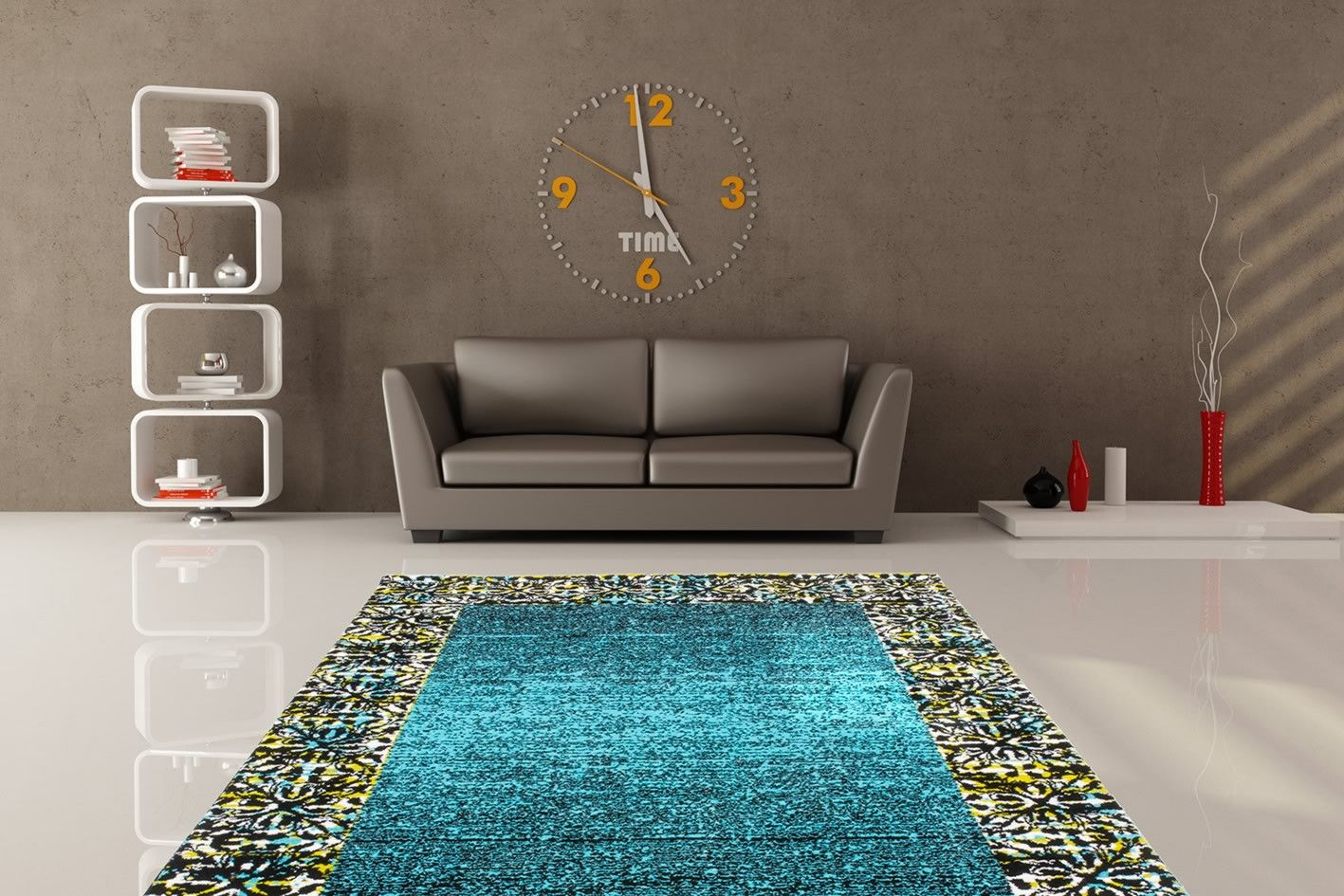 redoutable tapis salon bleu turquoise deci tapis salon. Black Bedroom Furniture Sets. Home Design Ideas